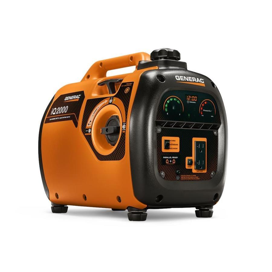 Generac Iq2000 Watt Quiet Smart 1600-Running-Watt Inverter Portable Generator with Generac Engine