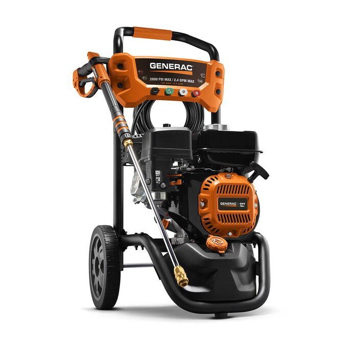 Generac Residential 2800 Psi 2 4 Gpm Cold Water Gas Pressure Washer Carb In The Gas Pressure Washers Department At Lowes Com