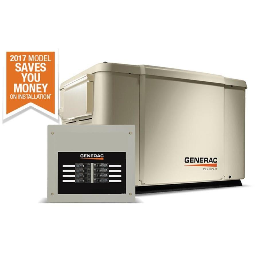 Generac Powerpact 7,500-Watt (LP)/6,000-Watt (NG) Standby Generator with Automatic Transfer Switch