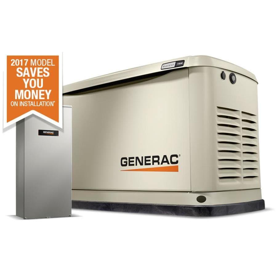 Generac Guardian 11,000-Watt (LP)/1,0000-Watt (NG) Standby Generator with Automatic Transfer Switch
