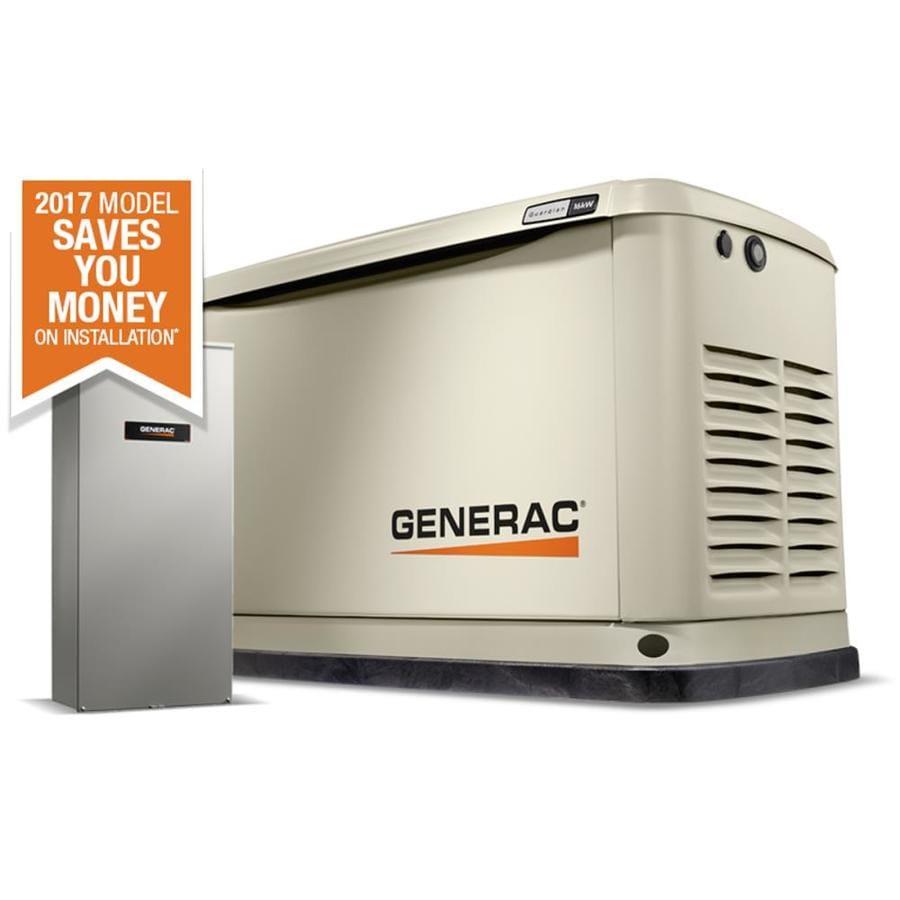 Generac Guardian 16000-Watt (Lp) / 16000-Watt (Ng) Standby Generator with Automatic Transfer Switch