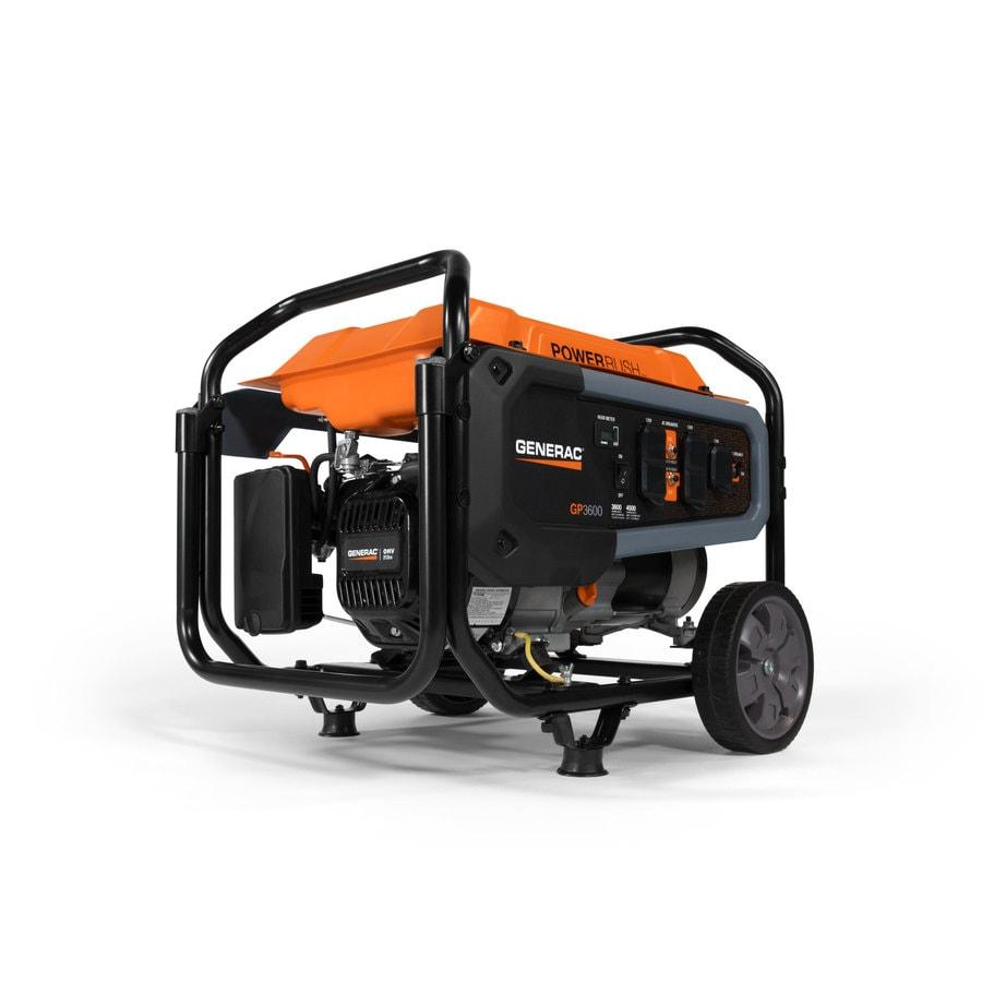 generac gp series 3600-running-watt gasoline portable generator