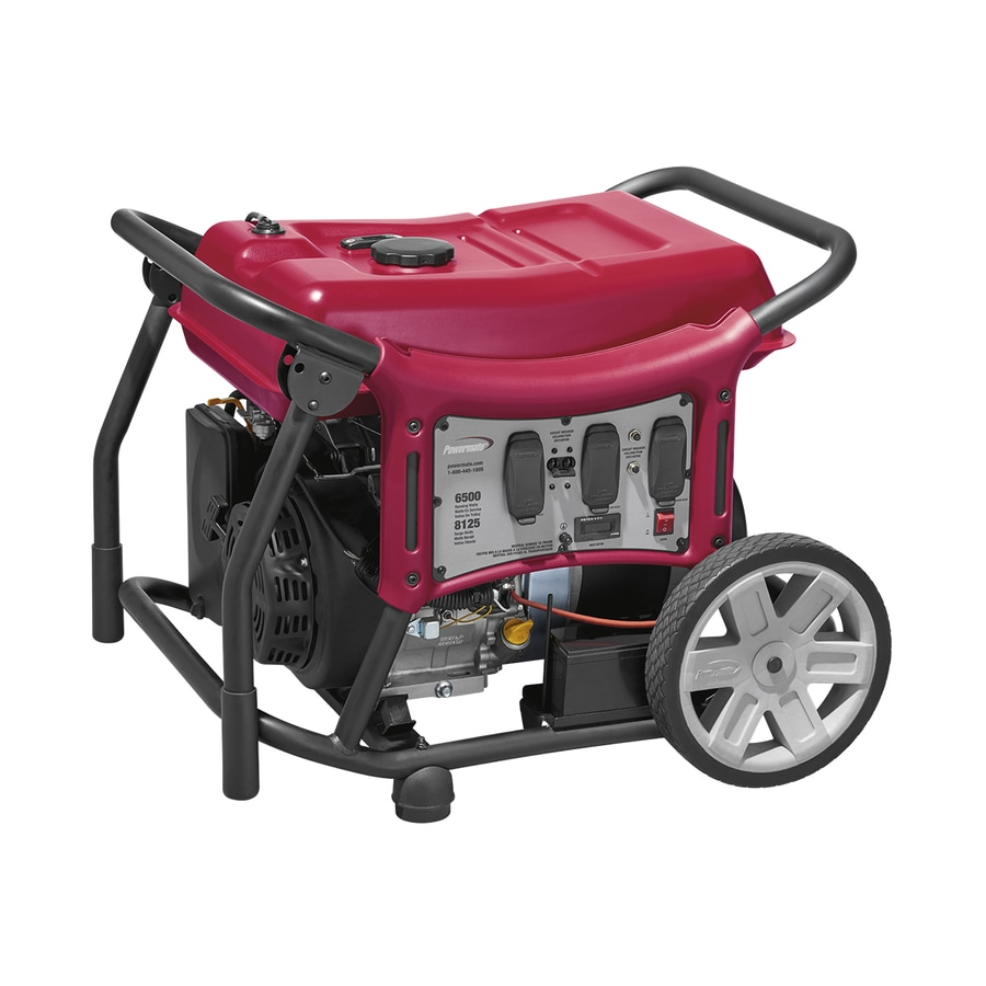 Powermate CX 6500-Running-Watt Portable Generator with Powermate Engine