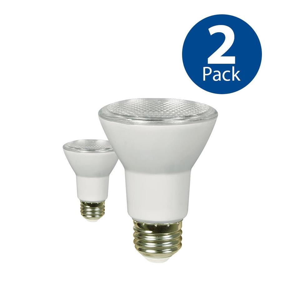 Utilitech 2-Pack 50 W Equivalent Dimmable Warm White PAR20 LED Light Fixture Light Bulbs