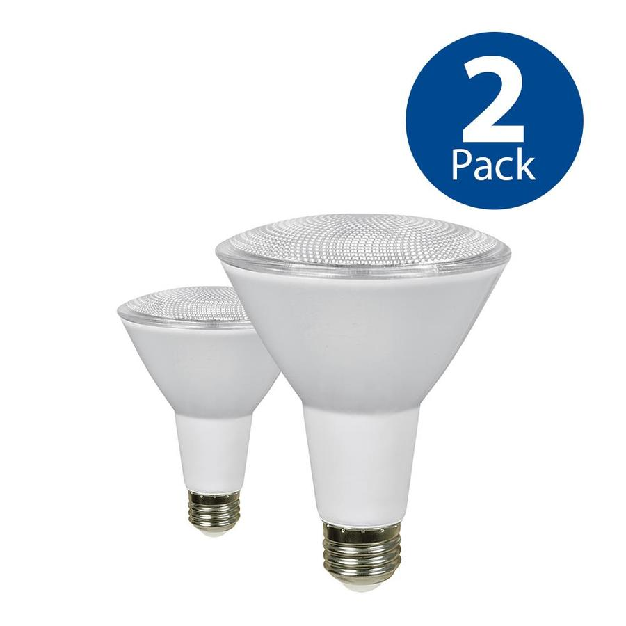 Utilitech 2-Pack 75 W Equivalent Dimmable Daylight PAR30 Longneck LED Light Fixture Light Bulbs