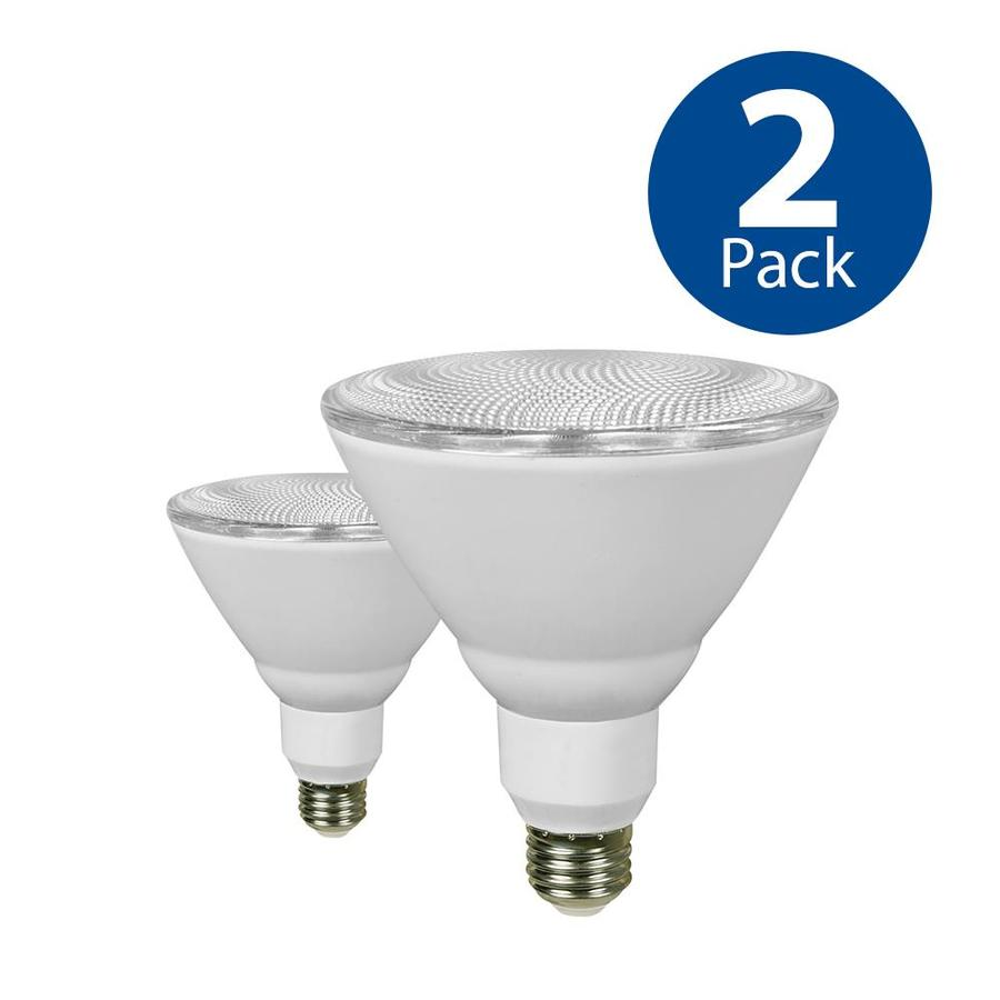 Utilitech 2-Pack 90 W Equivalent Warm White PAR38 LED Light Fixture Light Bulbs
