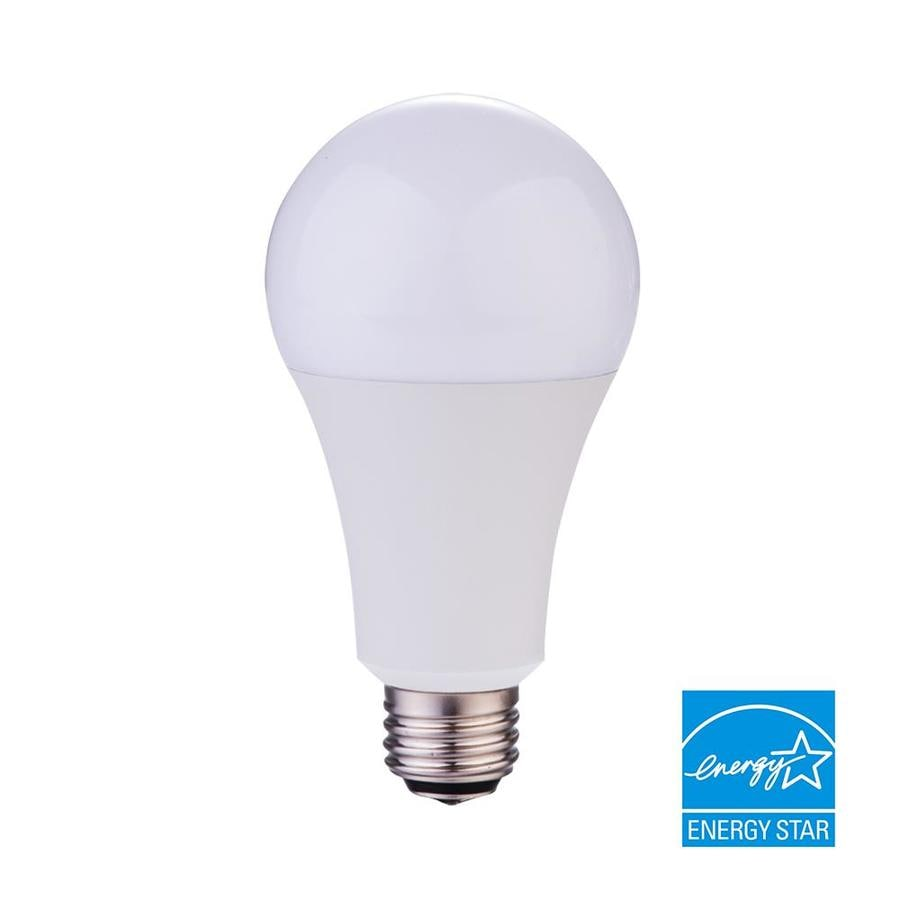 Shop Utilitech 150 W Equivalent Soft White 3-Way Bulb A21 LED Light ...