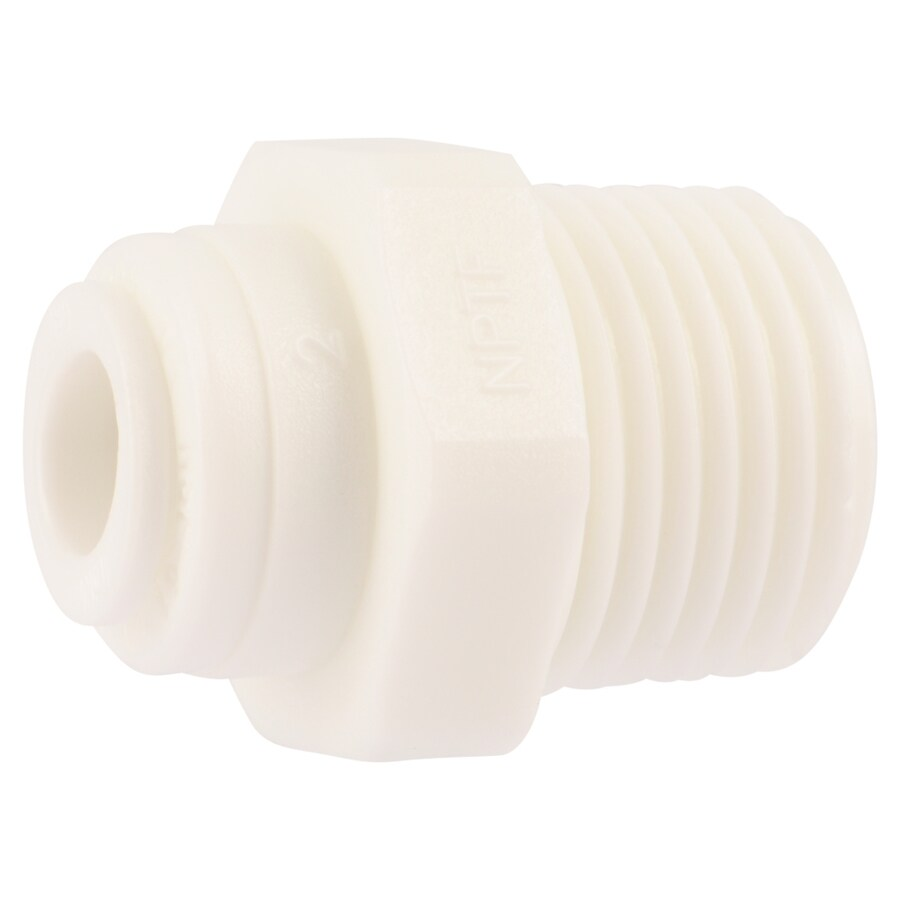SharkBite 1/4-in Push-to-Connect x 3/8-in OD MIP Male Adapter Push Fitting