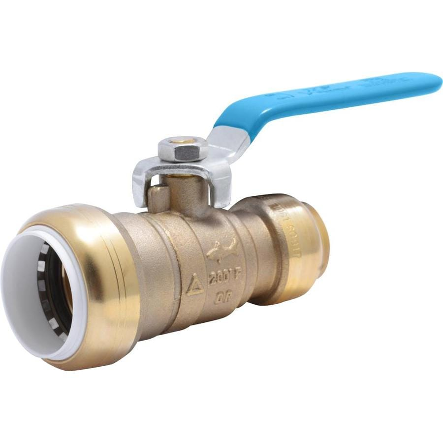 SharkBite Brass 1-in Push-to-Connect x 3/4-in Push-to-Connect Ball Valve