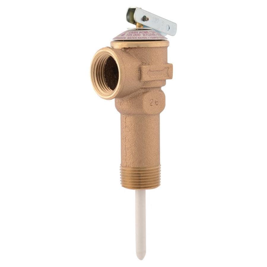 Cash Acme Water Heater Temperature And Pressure Relief