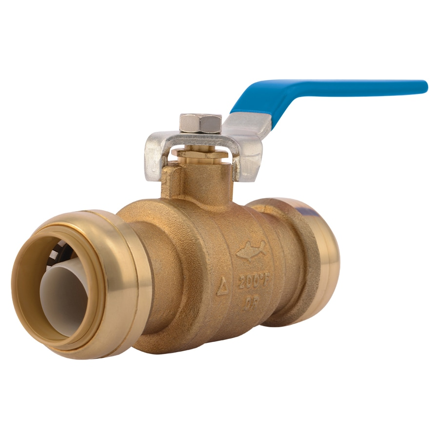Sharkbite ends in dia ball valve push fitting plumbing