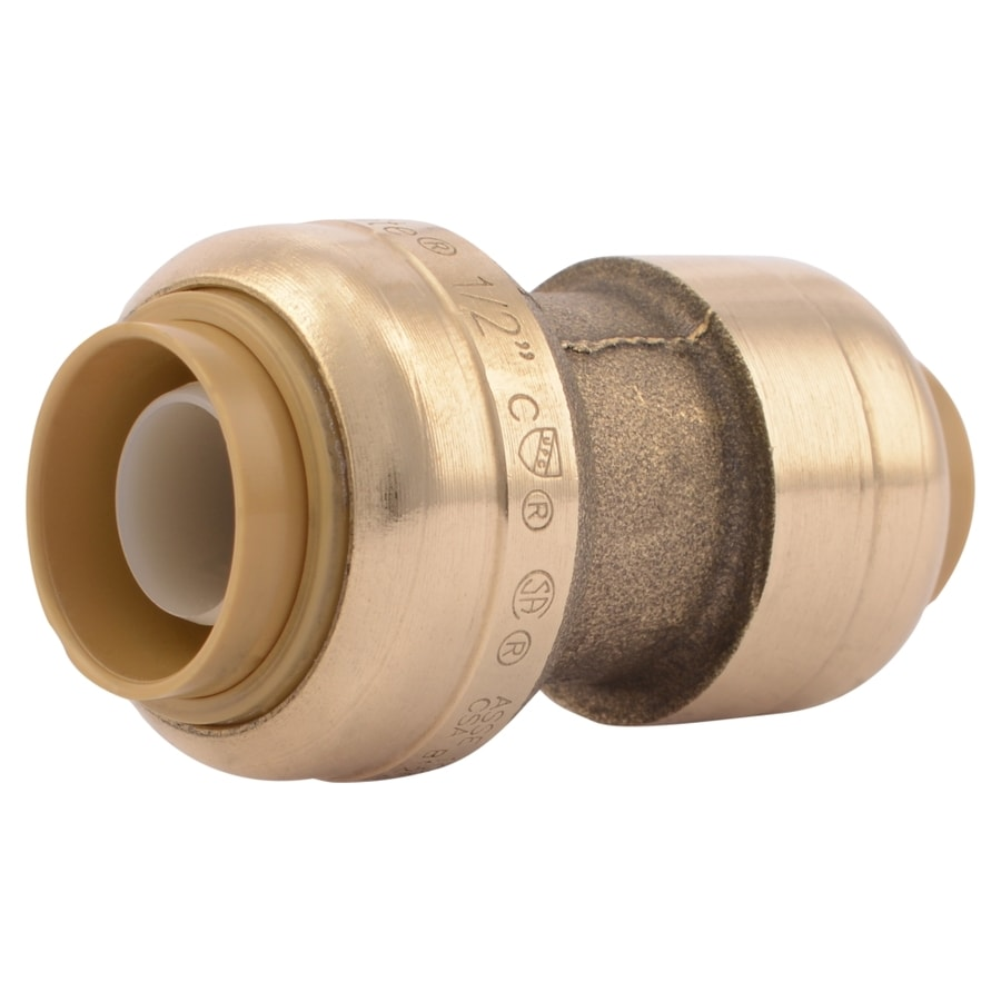 SharkBite 1/2-in Push-to-Connect x 3/8-in Push-to-Connect Reducing Coupling Push Fitting