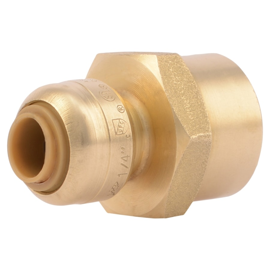 SharkBite 1/4-in Push-to-Connect x 1/2-in FNPT Female Adapter Push Fitting