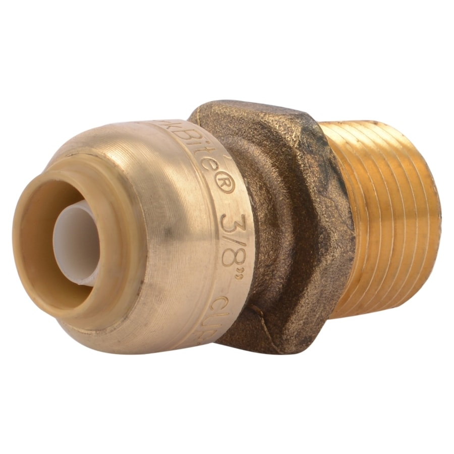 SharkBite 3/8-in Push-to-Connect x 1/2-in MNPT Male Adapter Push Fitting