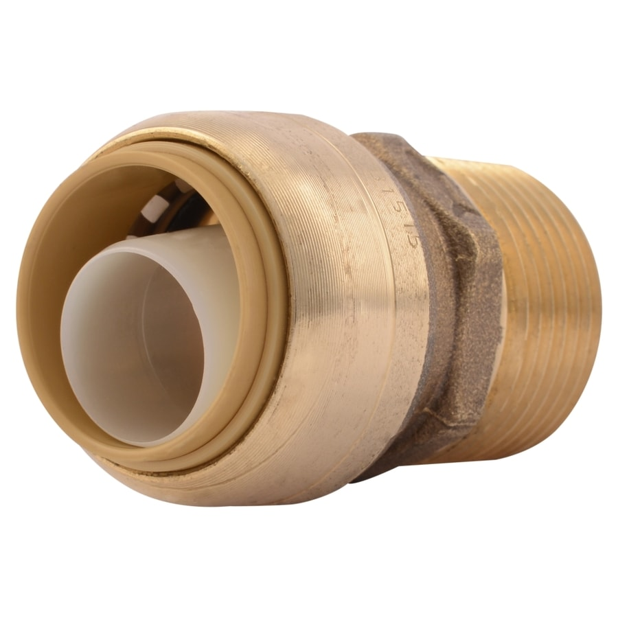 "3//4/"" Sharkbite Style Push-Fit x 3//4/"" MNPT Lead-Free Brass Male Threaded Adapter"