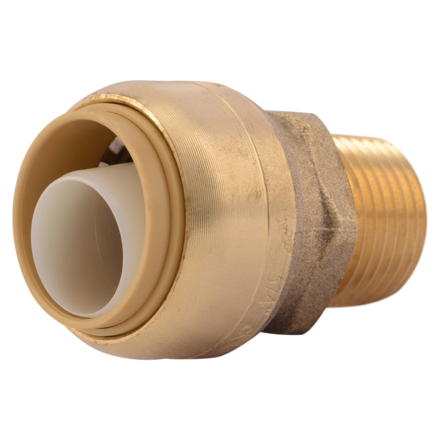 SharkBite 3/4-in Push-to-Connect x 1/2-in MNPT Male Adapter Push Fitting