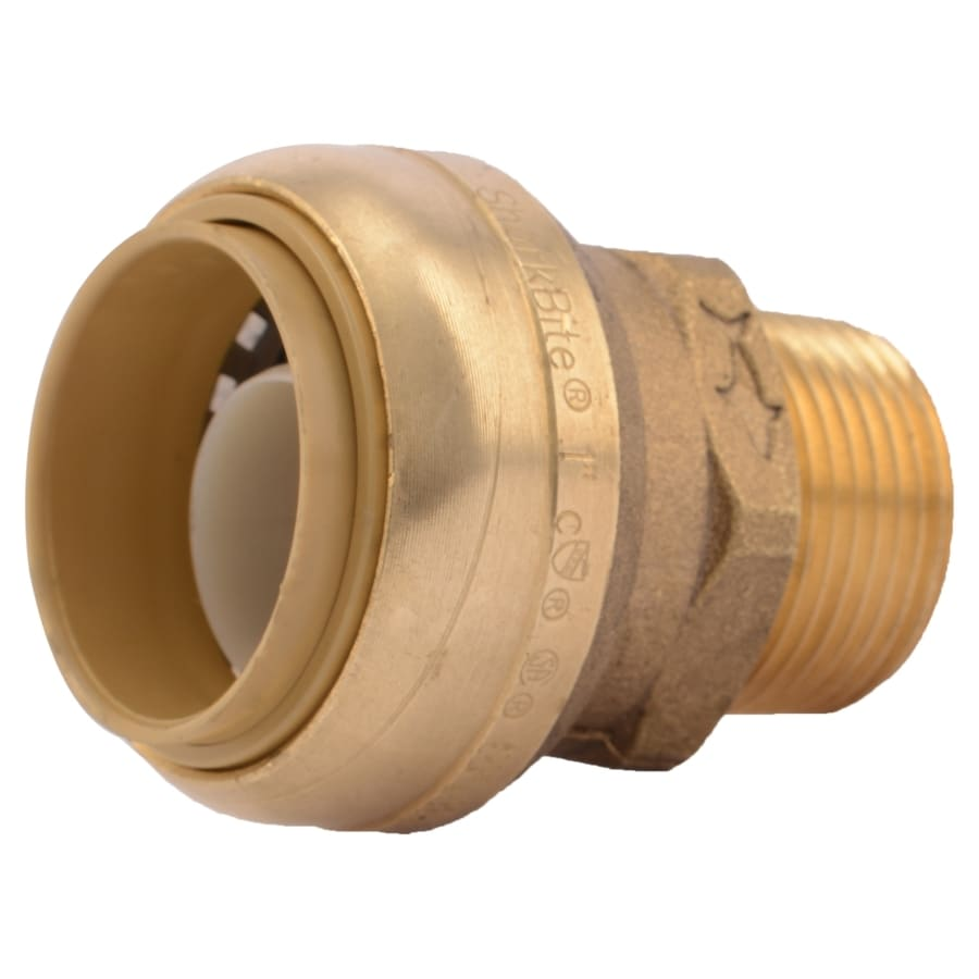 SharkBite 1-in Push-to-Connect x MNPT Male Adapter Push Fitting
