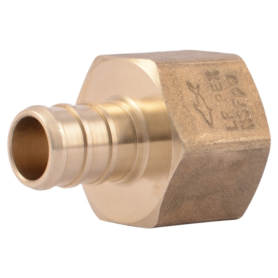 Shop sharkbite 1 2 in dia brass pex female adapter crimp fitting at