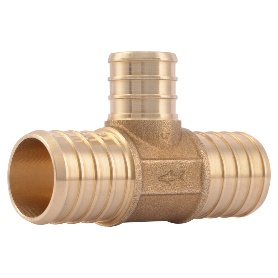 SharkBite 1-in dia Brass PEX Tee Crimp Fitting