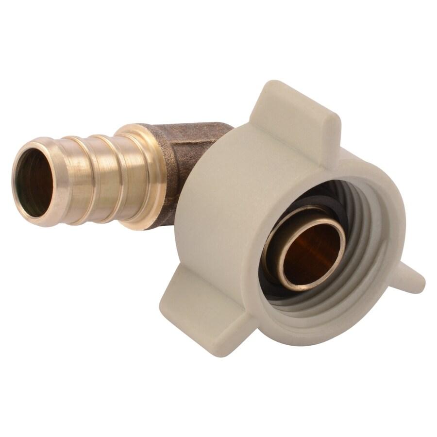 Shop sharkbite in dia brass pex adapter elbow crimp