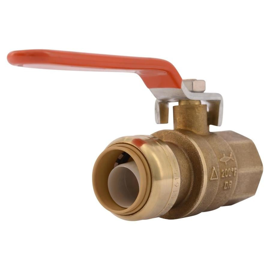 SharkBite 3/4-in Push-to-Connect x 3/4-in FNPT Ball Valve Push Fitting