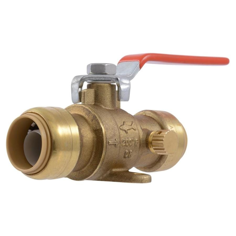SharkBite 3/4-in Push-to-Connect x 3/4-in Push-to-Connect Ball Valve Push Fitting