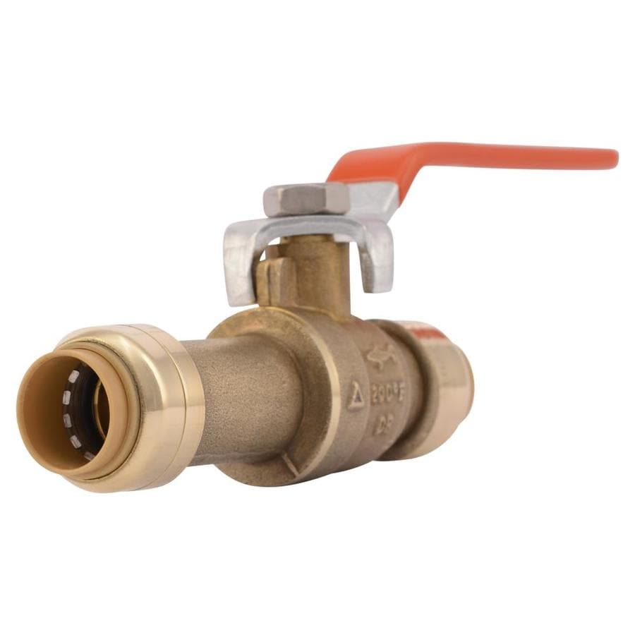 SharkBite 1/2-in Push-to-Connect x 1/2-in Slip Ball Valve Push Fitting