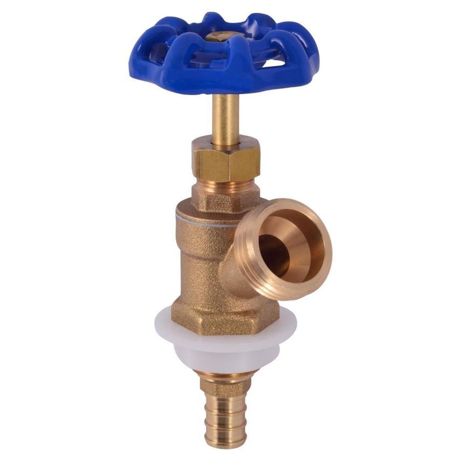 Shop sharkbite 4 7 in l 1 2 in pex barb brass boiler drain for Pex drain pipe