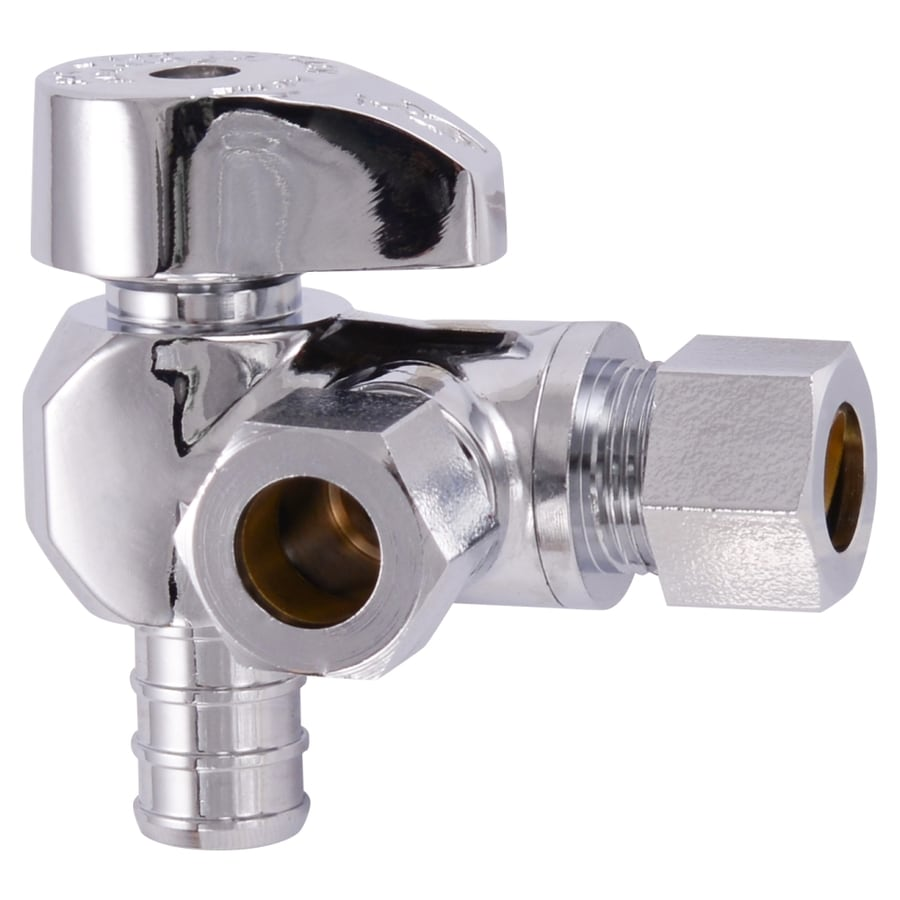 """3//8/"""" OD Compression Straight Outlet Stop Valve LEAD-FREE Brass 1//4-Turn 10"""