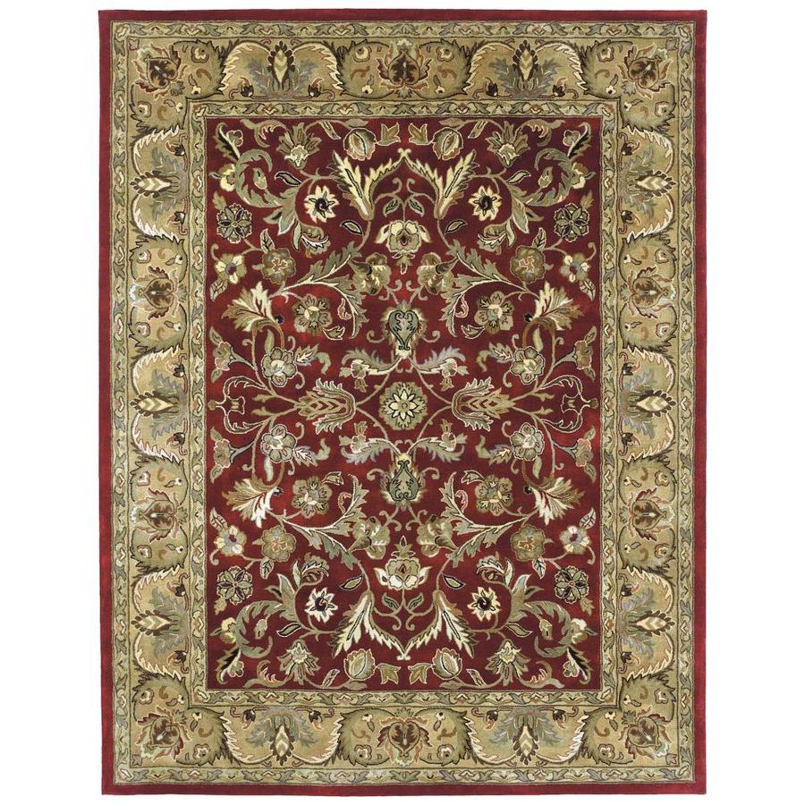 Kaleen Mystic Red Round Indoor Handcrafted Nature Area Rug (Common: 9 X 9; Actual: 9.75-ft W x 9.75-ft L x 4.88-ft dia)