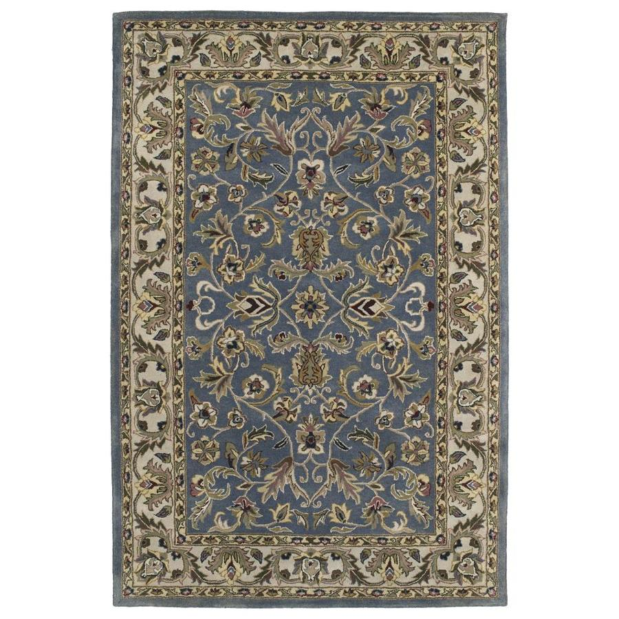 Kaleen Mystic Blue Round Indoor Handcrafted Nature Area Rug (Common: 8 X 8; Actual: 7.75-ft W x 7.75-ft L x 3.88-ft dia)