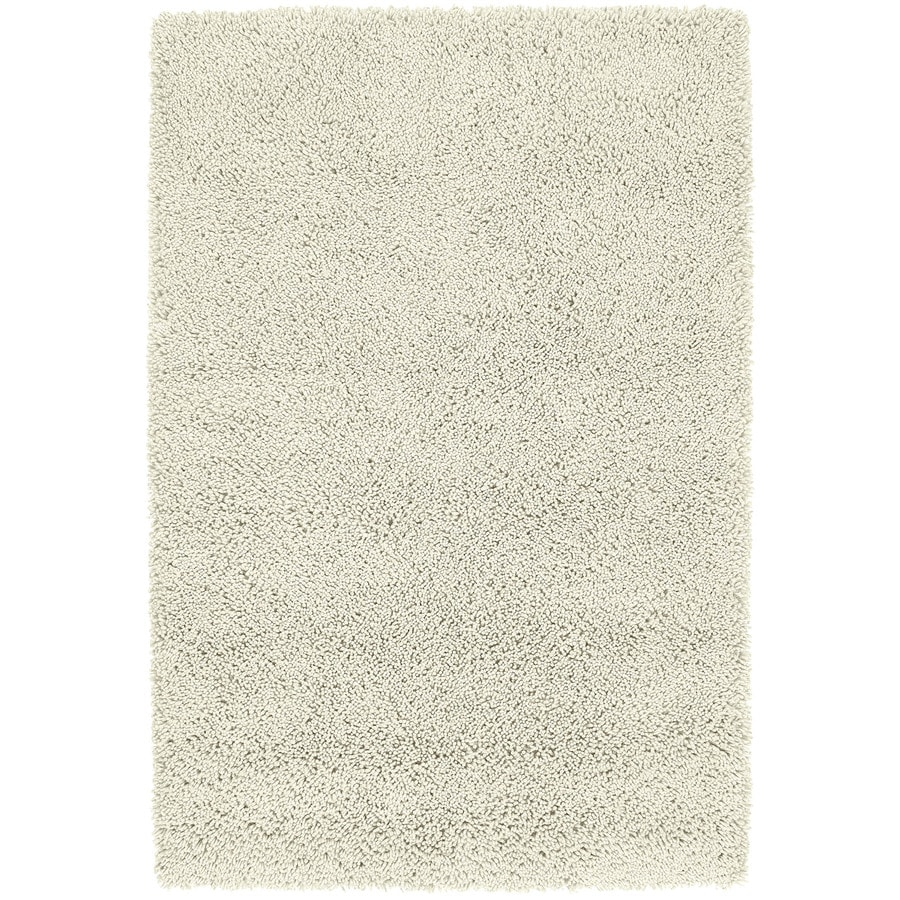 Kaleen Desert Song Shag Cream Rectangular Indoor Handcrafted Lodge Area Rug (Common: 4 x 6; Actual: 3.5-ft W x 5.25-ft L)