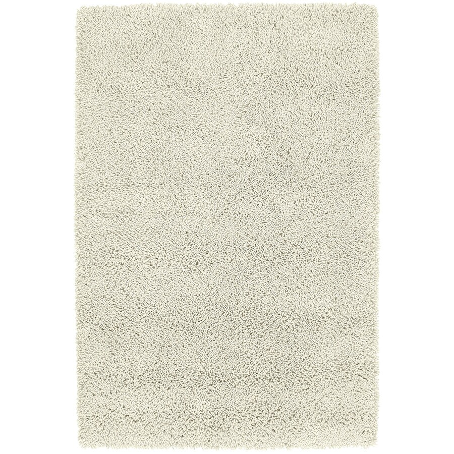 Kaleen Desert Song Shag Cream Rectangular Indoor Handcrafted Lodge Area Rug (Common: 5 x 7; Actual: 5-ft W x 7.75-ft L)