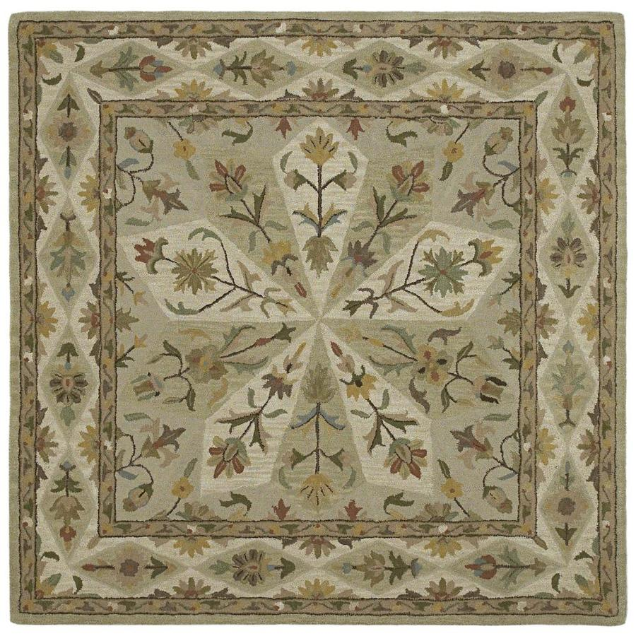 Kaleen Tara Square Sage Square Indoor Handcrafted Nature Area Rug (Common: 9 x 9; Actual: 9.5-ft W x 13-ft L)