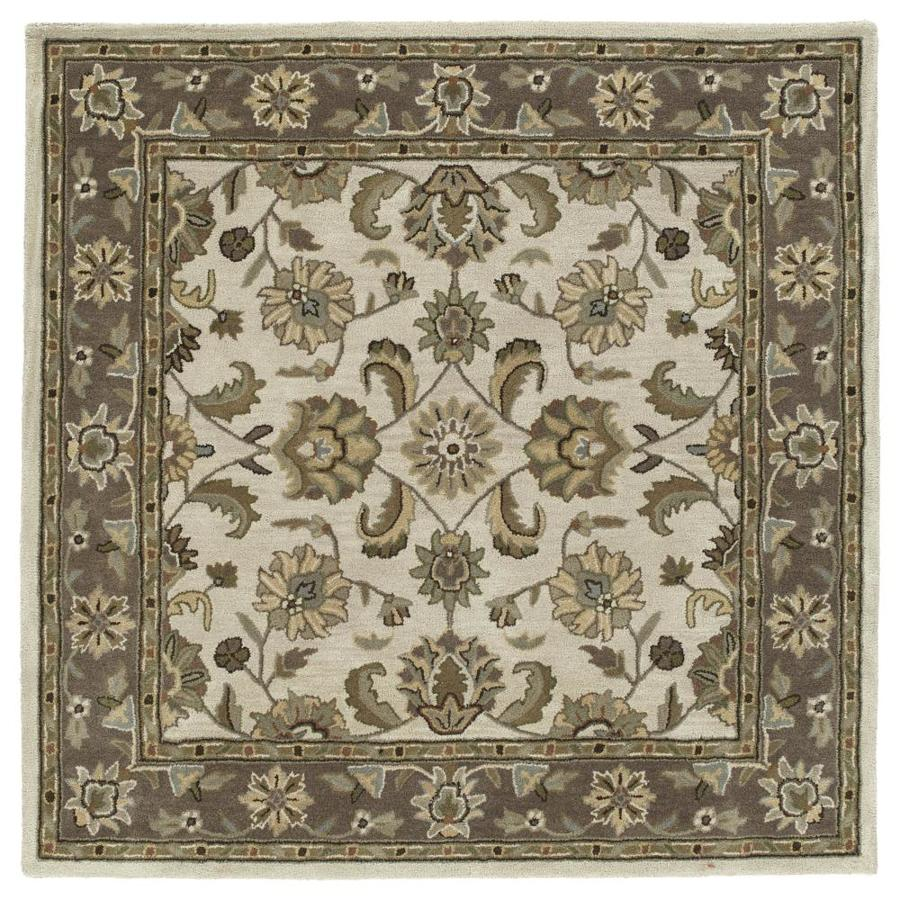 Kaleen Tara Square Linen Square Indoor Handcrafted Nature Area Rug (Common: 12 x 12; Actual: 11.75-ft W x 11.75-ft L)