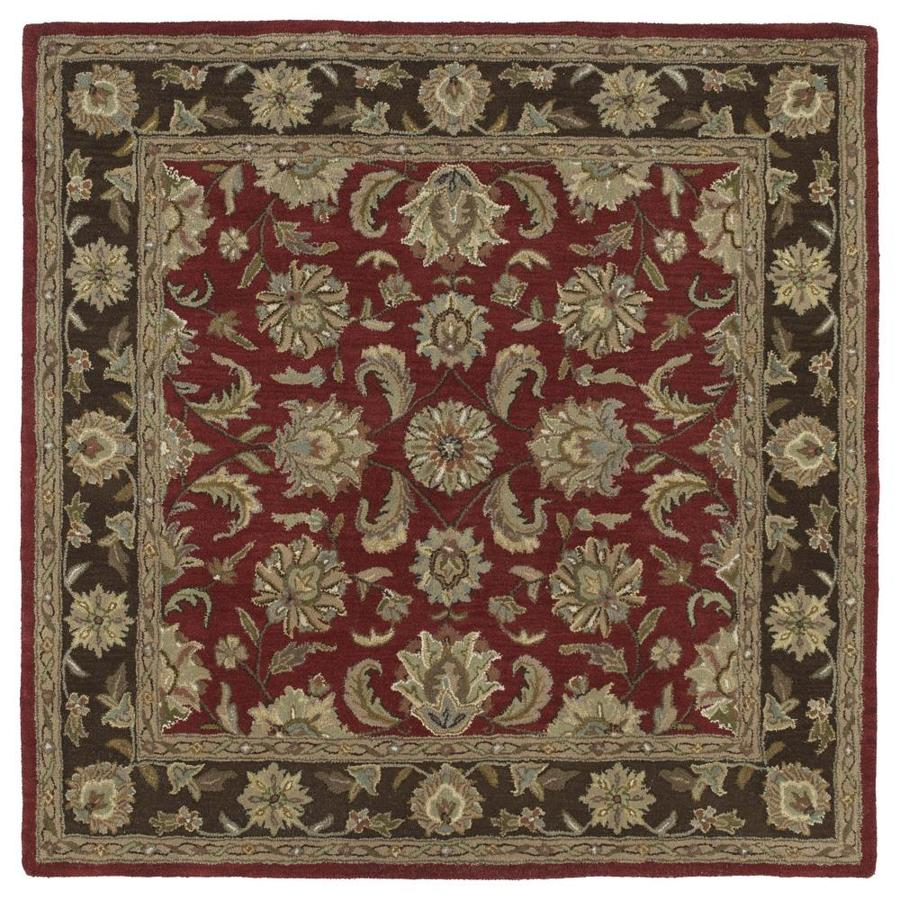 Kaleen Tara Square Salsa Square Indoor Handcrafted Nature Area Rug (Common: 12 x 12; Actual: 11.75-ft W x 11.75-ft L)