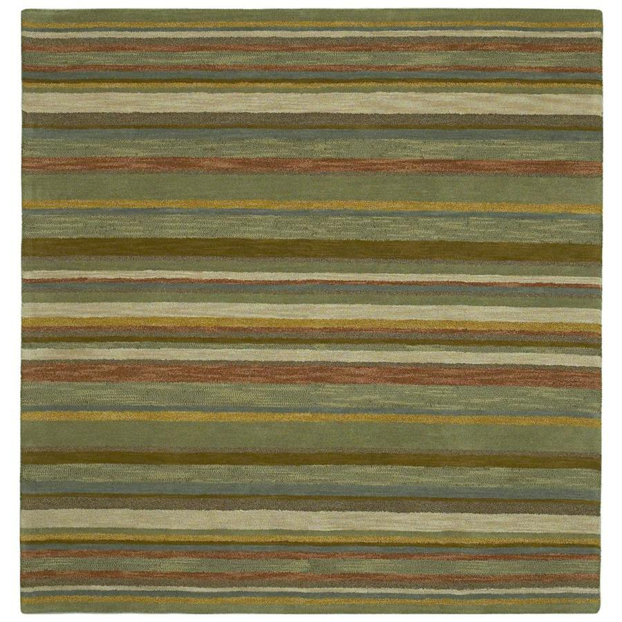 Kaleen Tara Square Natural Square Indoor Handcrafted Area Rug (Common: 4 x 4; Actual: 3.75-ft W x 3.75-ft L)