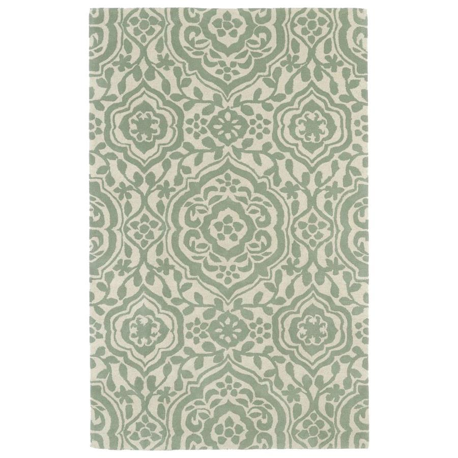 Kaleen Evolution Mint Square Indoor Handcrafted Area Rug (Common: 4 x 4; Actual: 3.75-ft W x 3.75-ft)