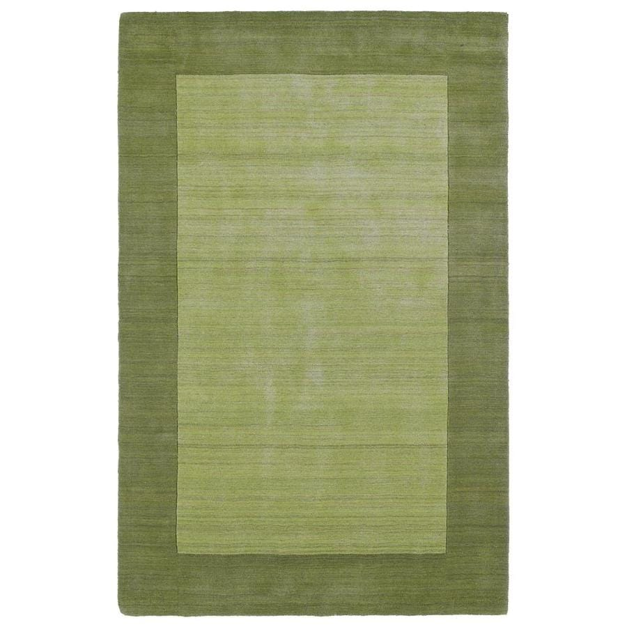 Kaleen Regency Celery Indoor Handcrafted Oriental Area Rug (Common: 5 x 8; Actual: 5-ft W x 7.75-ft L)