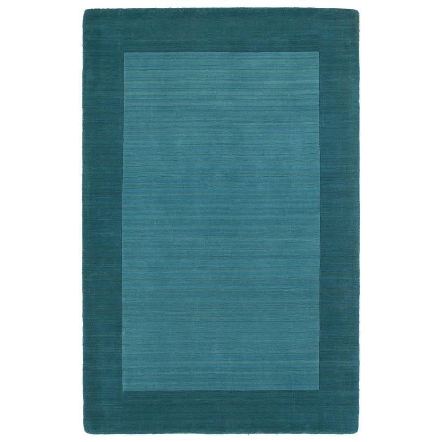 Kaleen Regency Turquoise Indoor Handcrafted Oriental Area Rug (Common: 5 x 8; Actual: 5-ft W x 7.75-ft L)