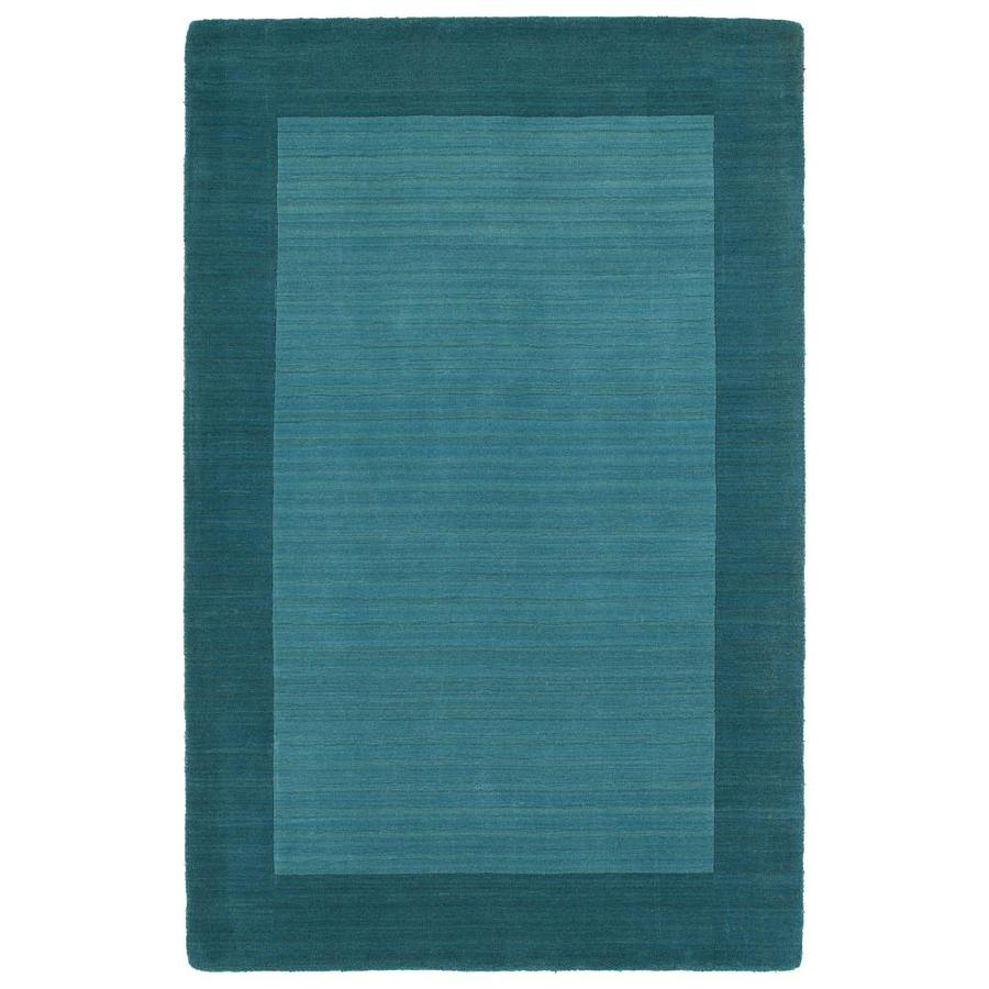 Kaleen Regency Turquoise Indoor Handcrafted Oriental Area Rug (Common: 8 x 10; Actual: 8-ft W x 10-ft L)