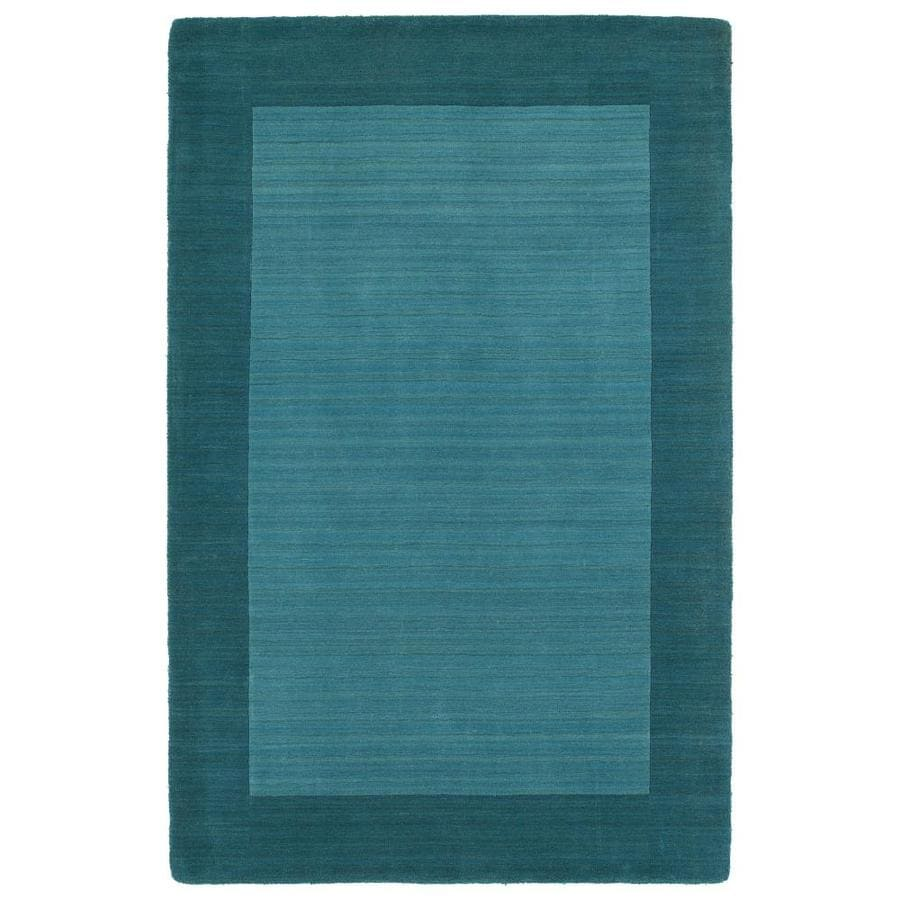 Kaleen Regency Turquoise Rectangular Indoor Handcrafted Oriental Area Rug (Common: 10 x 13; Actual: 9.5-ft W x 13-ft L)