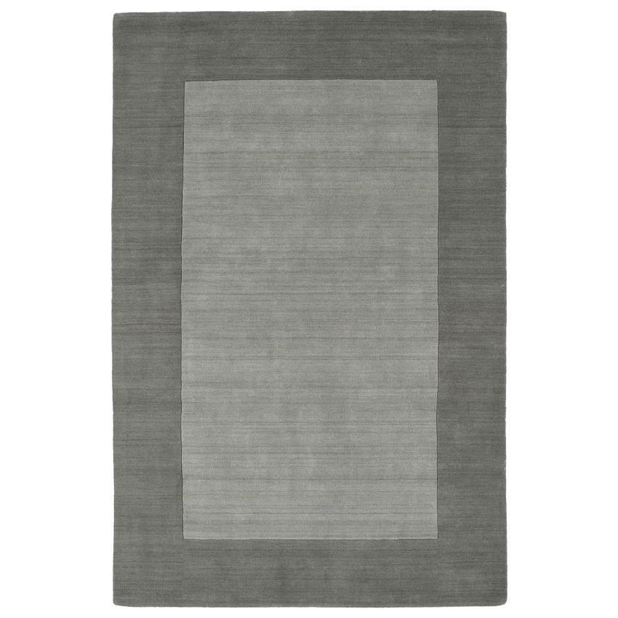 Kaleen Regency Grey Rectangular Indoor Handcrafted Oriental Area Rug (Common: 8 x 10; Actual: 8-ft W x 10-ft L)