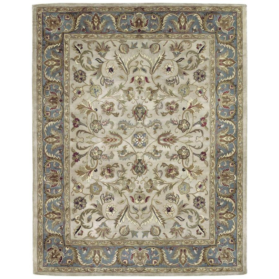 Kaleen Mystic Ivory Round Indoor Handcrafted Nature Area Rug (Common: 6 x 6; Actual: 5.75-ft W x 5.75-ft L x 2.88-ft dia)