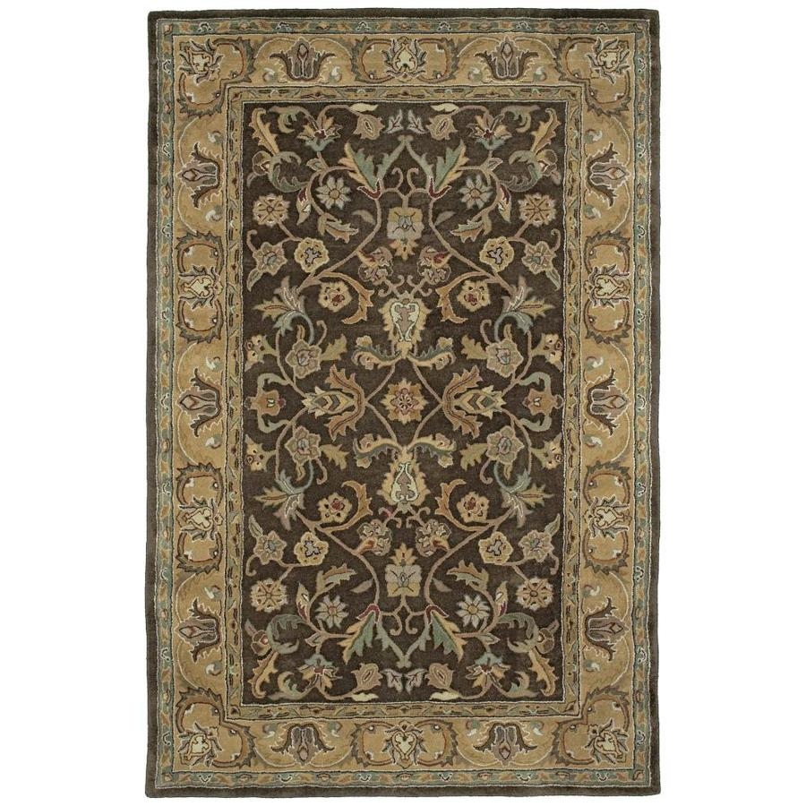 Kaleen Mystic Chocolate Rectangular Indoor Handcrafted Nature Area Rug (Common: 4 X 6; Actual: 3.5-ft W x 5.25-ft L)