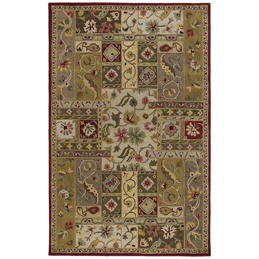 Kaleen Khazana Rectangular Red Floral Tufted Wool Area Rug (Common: 3-ft x 5-ft; Actual: 3-ft x 5-ft)