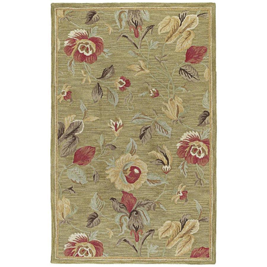 Kaleen Khazana Olive Indoor Handcrafted Oriental Area Rug (Common: 10 x 13; Actual: 9.5-ft W x 13-ft L)