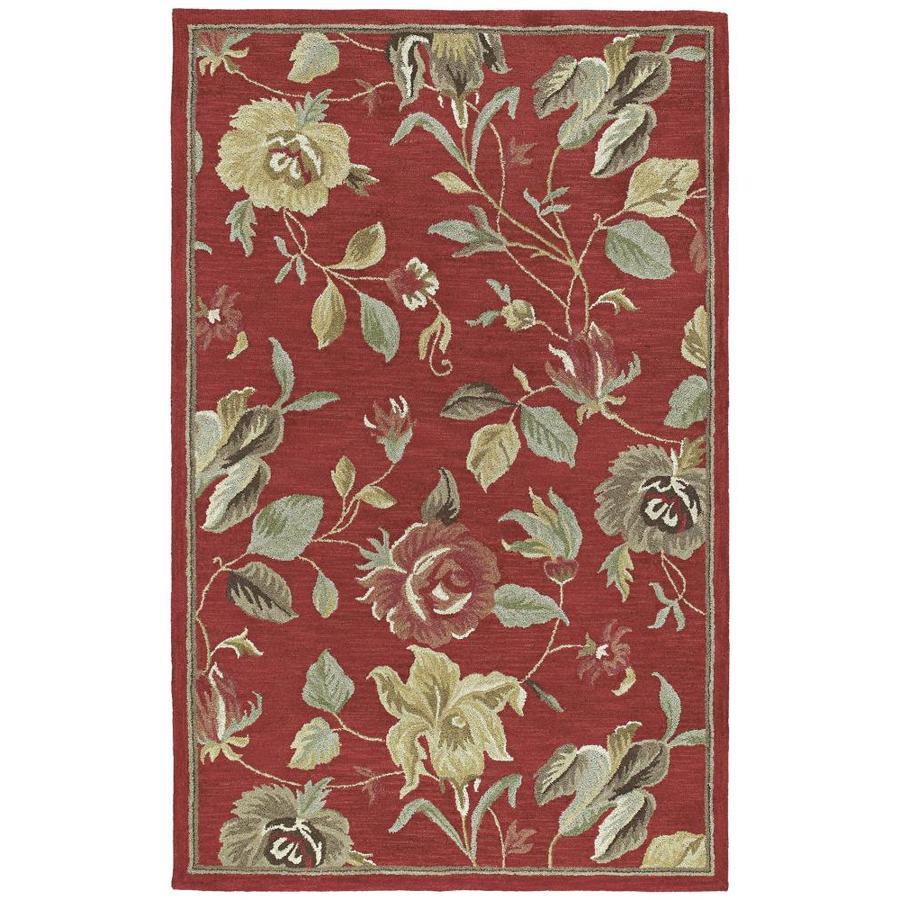 Kaleen Khazana Red Rectangular Indoor Handcrafted Oriental Area Rug (Common: 8 x 10; Actual: 7.5-ft W x 9-ft L)