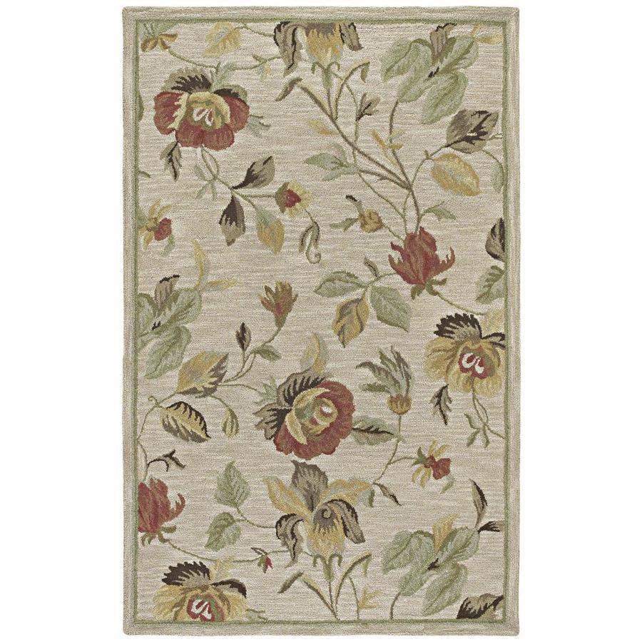 Kaleen Khazana Linen Indoor Handcrafted Oriental Area Rug (Common: 10 x 13; Actual: 9.5-ft W x 13-ft L)