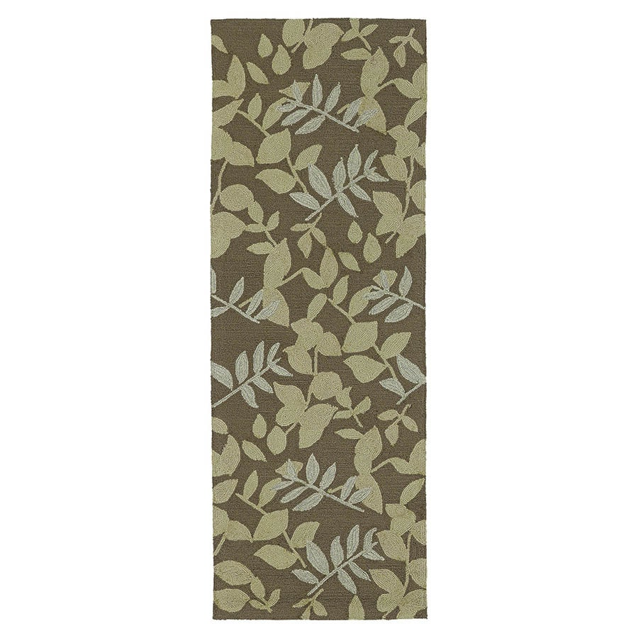 Kaleen Home and Porch Coffee Rectangular Indoor/Outdoor Handcrafted Nature Runner (Common: 2X7; Actual: 2-ft W x 6-ft L)